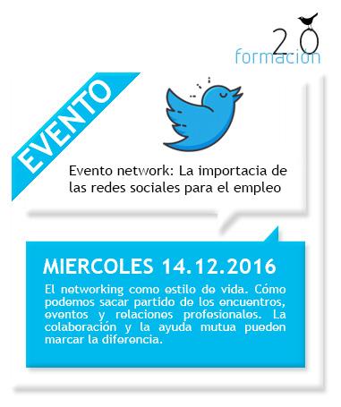 Evento network: La importancia de las redes sociales para el empleo